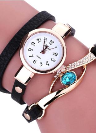 Часы браслет женские изумруд