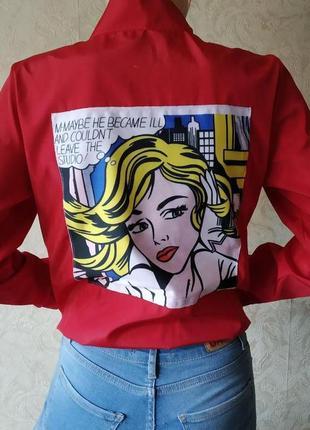 Бомбер куртка с принтом pop art