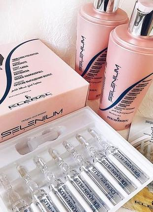 Шампунь та ампули для лікування проблеми випадіння волосся kle...