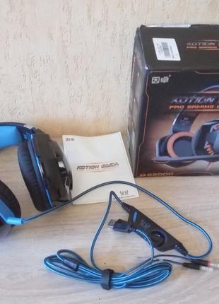 Игровые наушники Kotion Each G2000 с микрофоном, LED-подсветка