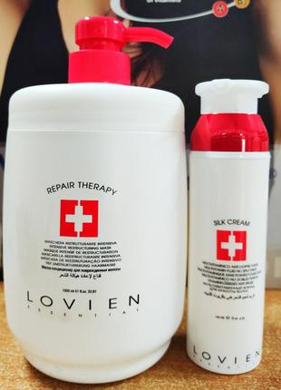 Набір шампунь 1л. + незмивний крем флюїд 120 мл. lovien essential