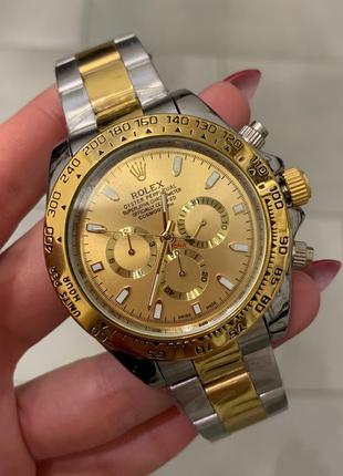 Наручные часы Rolex Daytona Automatic Silver-Gold Годинник, часи