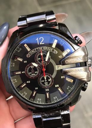 Наручные часы Diesel 10 Bar 8712 All Black Наручний годинник часи
