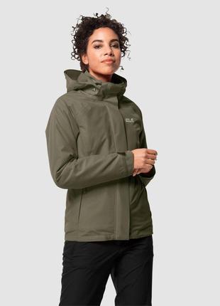 Куртка jack wolfskin мембранная утеплённая тёплая штормовая