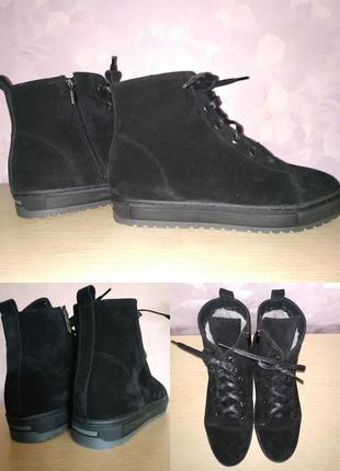 Зимние ботинки большой размер 43 р кожа