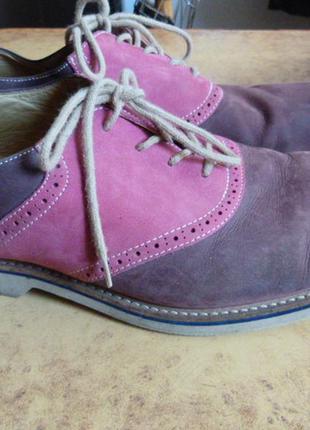 """Туфли нубуковые, стильные, бренд """"1901""""  )к6"""