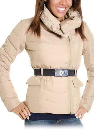 Стильная куртка guess тёплая с большым воротом оригинал