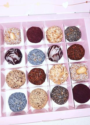 Эксклюзивные натуральные пп конфеты ручной работы 16 шт упаковка