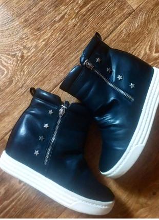 Демисенные ботинки на платформе сникерсы