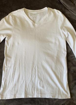 Біла чоловіча кофта, светр, мужская белая кофта.