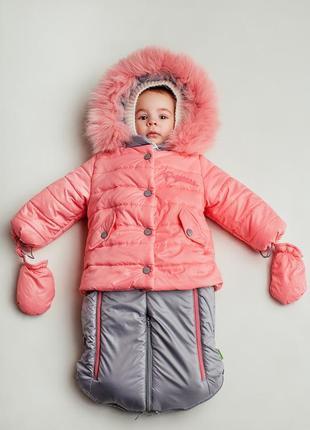 Курточка, комбинезон-трансформер, для девочки и мальчика, зимнее