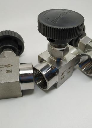 Кран игольчатый нержавеющая сталь 304 дистиллятор