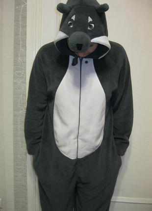 Пижама комбинезон кигуруми креативный волк волчица  м рост до ...