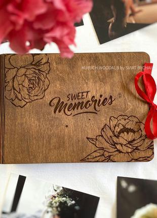 ТОП Фотоальбом из дерева - подарок на годовщину девушке, жене,...