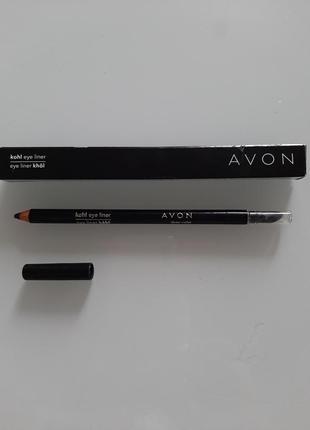 Avon карандаш фиолетовый для глаз со спонжем