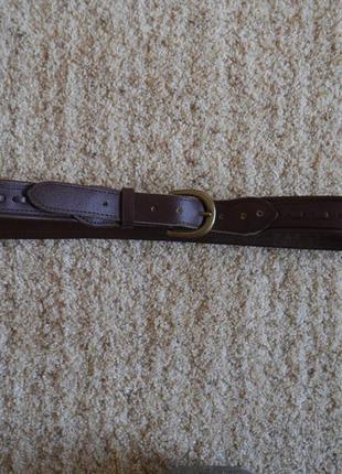 Ремень кожзам  коричневий на талію 87-101 см