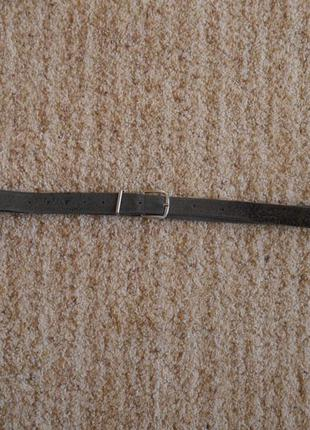 Ремень шкіряний чорний  на талію 101-124 см