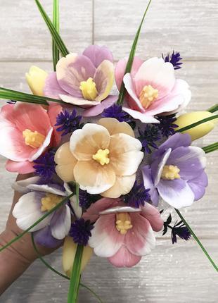 Букет из мыла. Тюльпаны. Подарок 8 марта