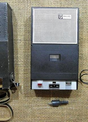 Винтажный кассетный магнитофон - Philips EL-3302 - рабочий!