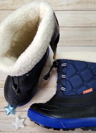 Зимние сапоги сноубутсы на шерсти с резиновым захлестом