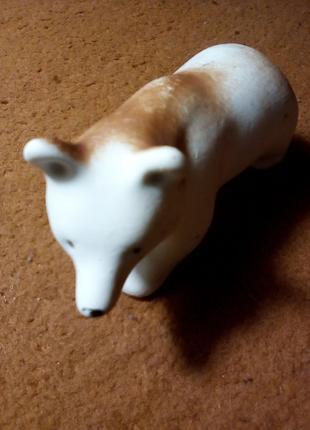 Антиквариат. Статуэтка фарфоровая, Медведь.