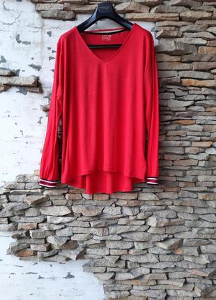 Вискозный пуловер,  лонгслив большого размера