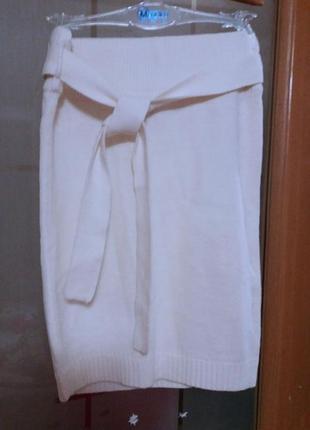 Вязаная юбка с поясом