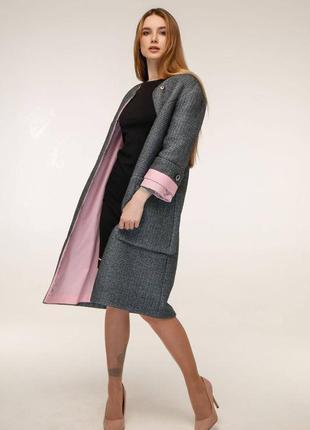 Пальто демисезонное, кардиган шерстяной на подкладке