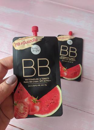 Матирующий bb крем «арбуз и томат» с защитой от солнца spf 45 ...