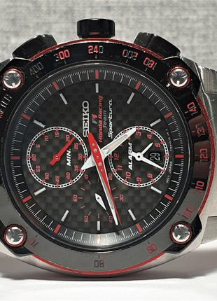 Мужские часы Seiko Sportura Chronograph Honda Racing SNA749 Sapph