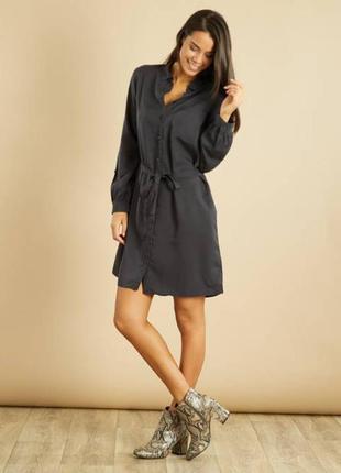 Прекрасная серая удлиненая блузка -рубашка