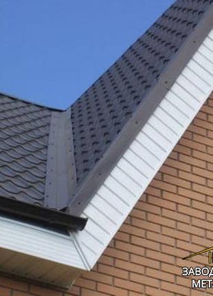 Ендова декоративная для крыши, планка ендовы верхняя декоративная