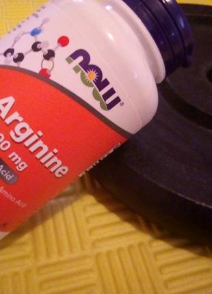 Незамінна амінокислота,L-Aргiнин Now Foods,500mg 100таблеток