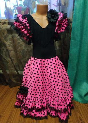 Платье цыганки,кармен,испанское платье, карнавальный костюм ци...