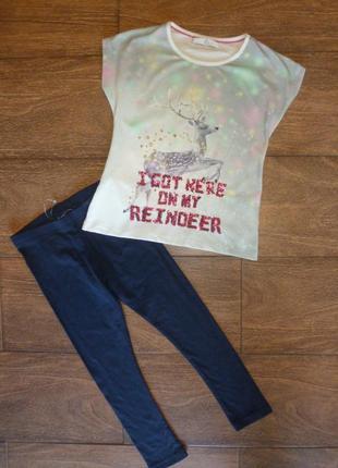 Набор на 5-6 лет , футболка слосинами