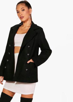 Крутое пальто прямого кроя boohoo