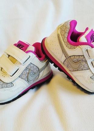 Кроссовки детские кожаные для малышей белые nike baby
