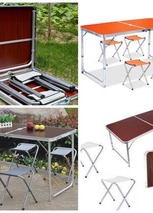 Складной стол+4 стула