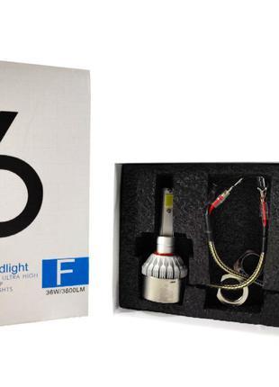 Світлодіодні автомобільні LED-лампи ADS С6 HR-H1 6000K, 3600Lm