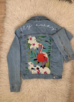 Джинсовка джинсовая куртка zara