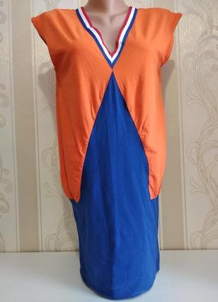 Спортивное платье туника яркого цвета.
