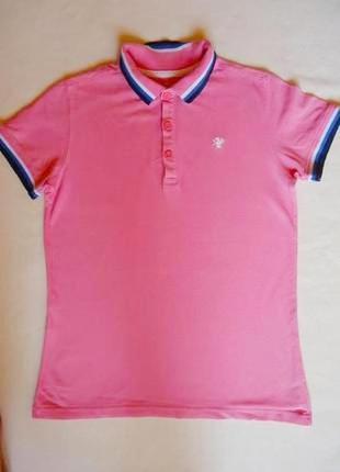 Поло для девочки, футболка розовая