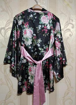 Блуза кимоно атласная