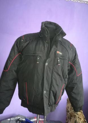 Куртка мужская бомбер зимняя