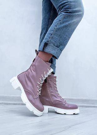 Женские кожаные ботинки, жіночі шкіряні черевики