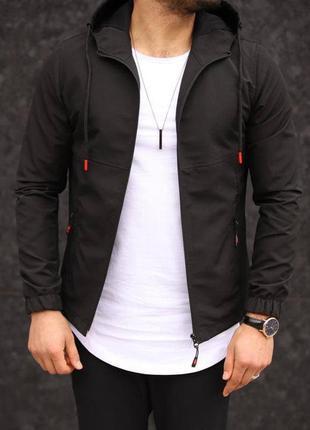 Ветровка мужская демисезонная черная / куртка весеняя весняна ...