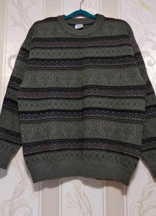 Шерстяной пуловер, 100% шерсть, австрия.