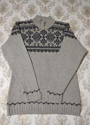 Теплый свитер, 100% шерсть