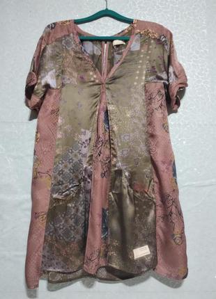 Шелковое платье, туника для беременных. бохо.