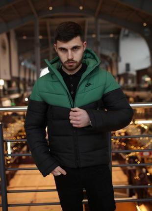 "Зимняя куртка ""two in one"" зелено-черная"